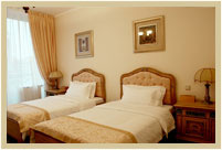 Twin rooms in Visak Hotel